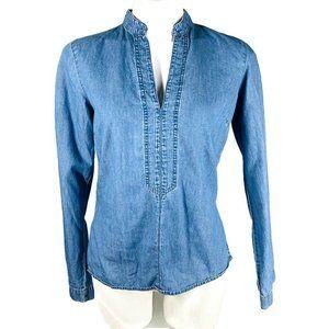 Tommy Hilfiger Jeans S Denim Blouse Blue